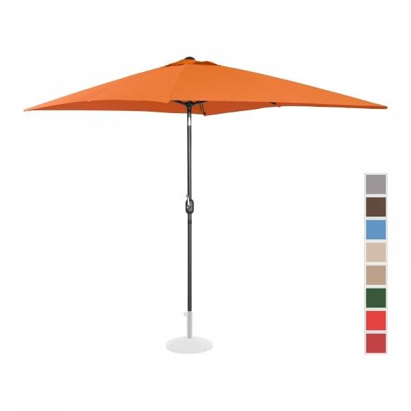Brugt Parasol - orange - rektangulær - 200 x 300 cm - knæk-position