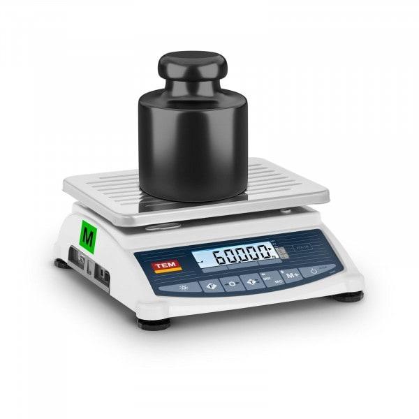 Brugt Bordvægt - certificeret - 60 kg / 20 g - LCD - Memory