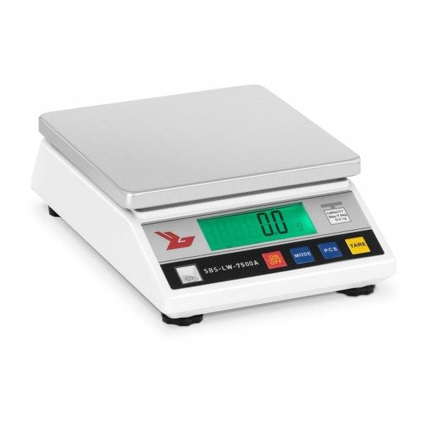 Præcisionsvægt - 7.500 g / 0,1 g - LCD