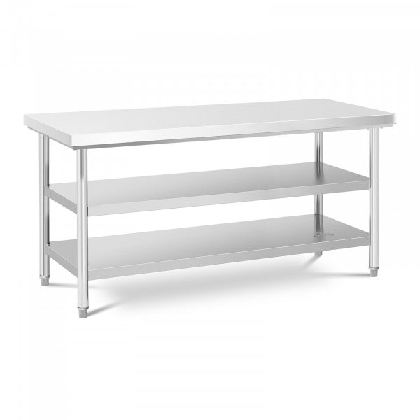Stålbord - 70 x 180 cm - 600 kg - 3 bordplader
