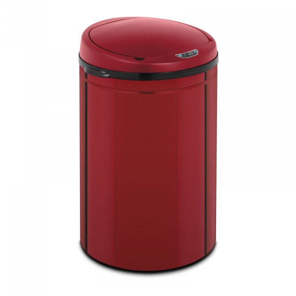 Brugt Skraldespand med sensor - 30 l - rød - med inderspand - kulstofstål
