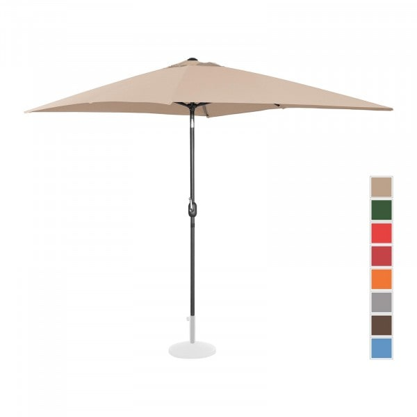 Brugt Parasol - flødefarvet - rektangulær - 200 x 300 cm - knæk-position