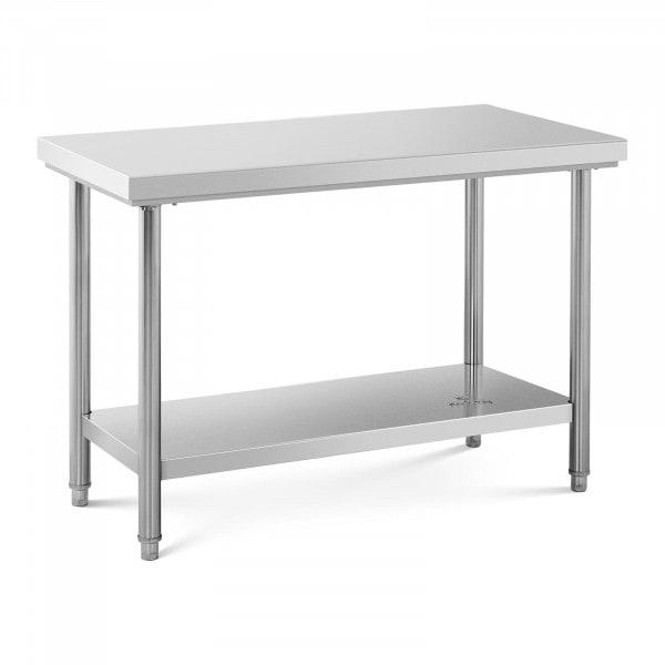 Stålbord - 120 x 60 cm - 110 kg bæreevne