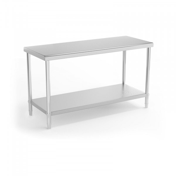 Stålbord - 150 x 60 cm - 230 kg bæreevne