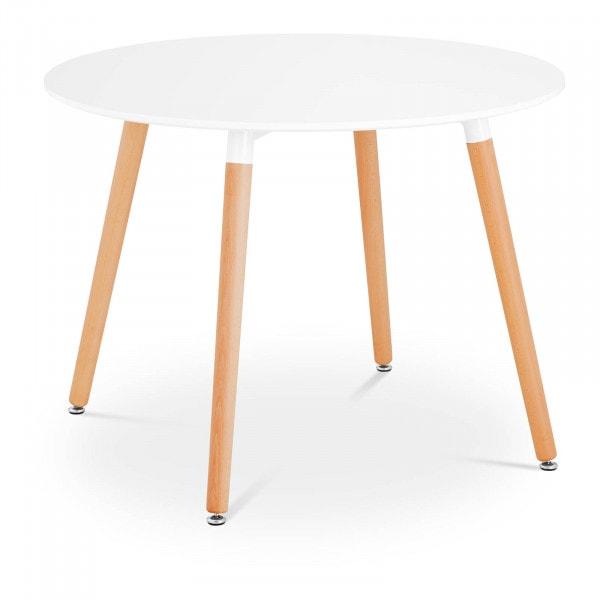 Brugt Rundt bord - 100 cm i diameter - hvidt
