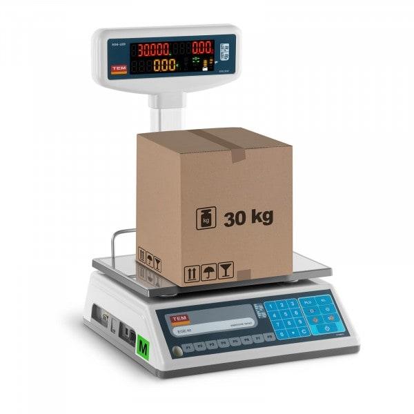 Brugt Butiksvægt - LED på stativ - 15 kg/ 5g - 30 kg/10 g
