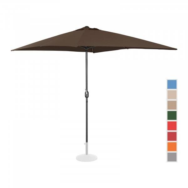 Brugt Parasol - brun - rektangulær - 200 x 300 cm