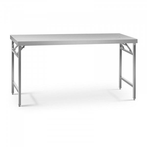 Stålbord - sammenklappeligt - 60 x 180 cm - 230 kg bæreevne
