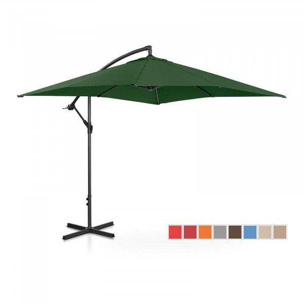 Brugt Hængeparasol - grøn - rektangulær - 250 x 250 cm - knæk-position