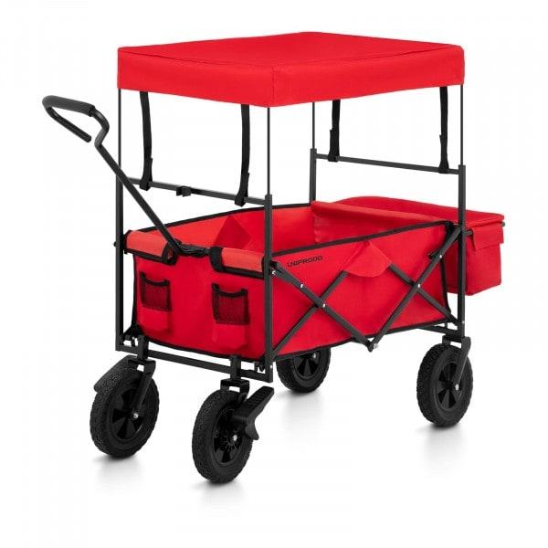 Brugt Sammenklappelig trækvogn med tag og bremser - rød