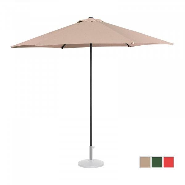Brugt Parasol - flødefarvet - sekskantet - 270 cm i diameter - knæk-position