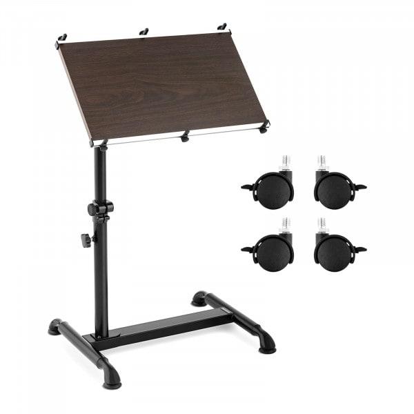Brugt Lille hæve-sænkebord - 52 x 45 cm - 90° kan hældes