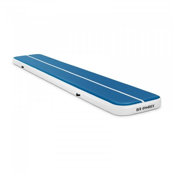 Brugt Træningsmåtte oppustelig - 600 x 100 x 20 cm - 300 kg - blå/hvid