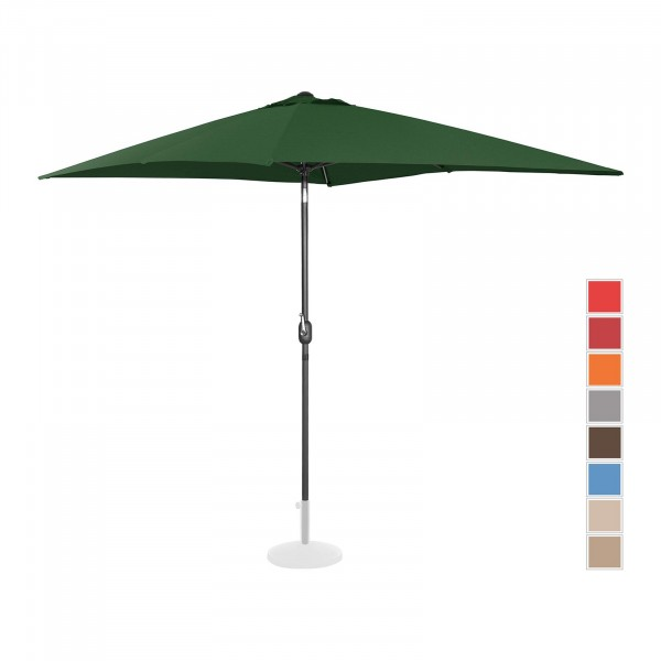 Brugt Parasol - grøn - rektangulær - 200 x 300 cm - knæk-position