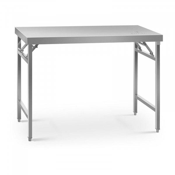Stålbord - sammenklappeligt - 60 x 120 cm - 210 kg bæreevne