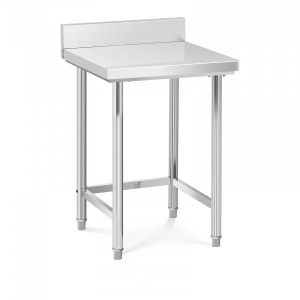 Stålbord - 64 x 64 cm - bagkant - 200 kg bæreevne