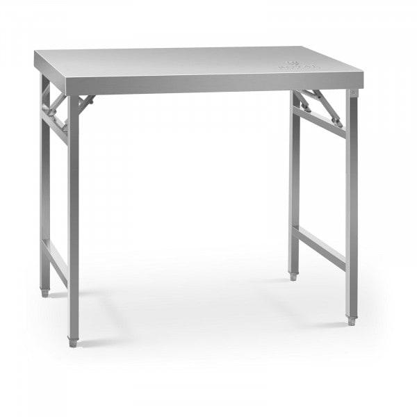 Stålbord - sammenklappeligt - 60 x 100 cm - 200 kg bæreevne