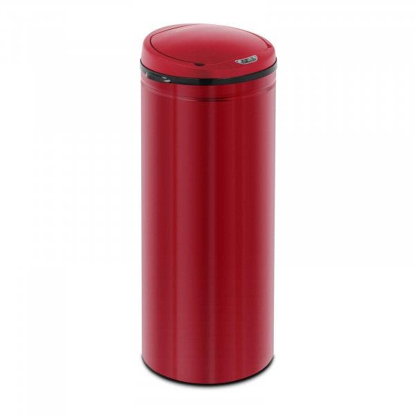 Brugt Skraldespand med sensor - 50 l - rød - med inderspand - kulstofstål
