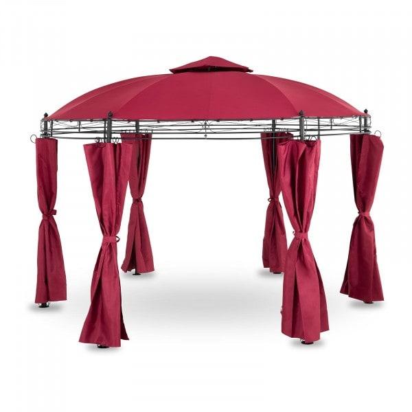 Brugt Rund pavillon - 3,5 m - 180 g/m² - vinrød