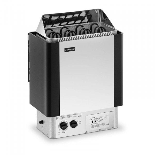 Brugt Saunaovn - 6 kW - 30 til 110 °C - inkl. kontrolpanel - rustfrit stål