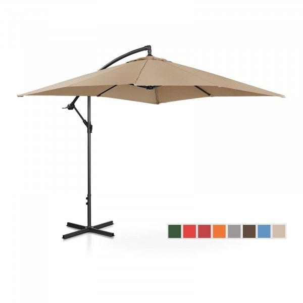 Brugt Hængeparasol - taupe - rektangulær - 250 x 250 cm - knæk-position