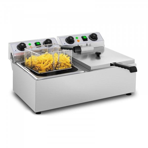 Frituregryde - 2 x 10 liter - nedtællingsur - 230 V