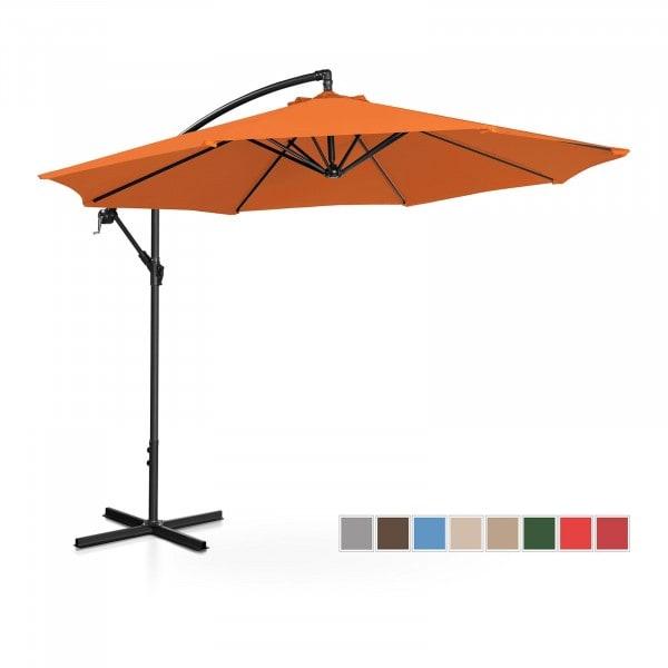 Brugt Hængeparasol - orange - rund - 300 cm i diameter - knæk-position