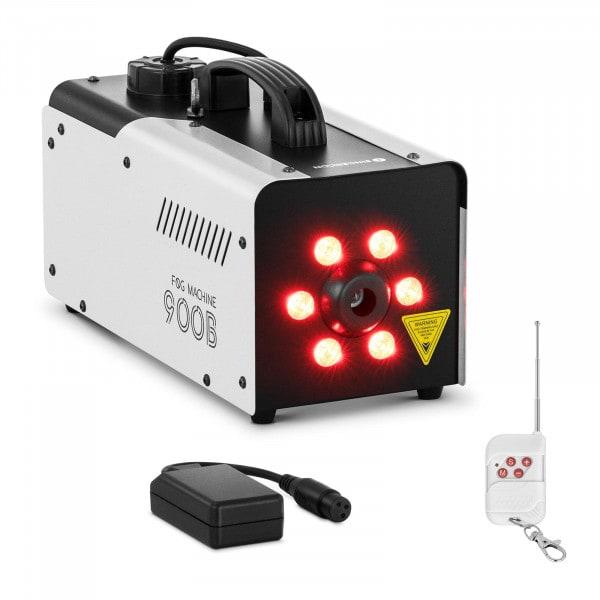 Brugt Røgmaskine - 900 W - 141,6 m3 - LED 6 x 3 W - DMX-tilslutning