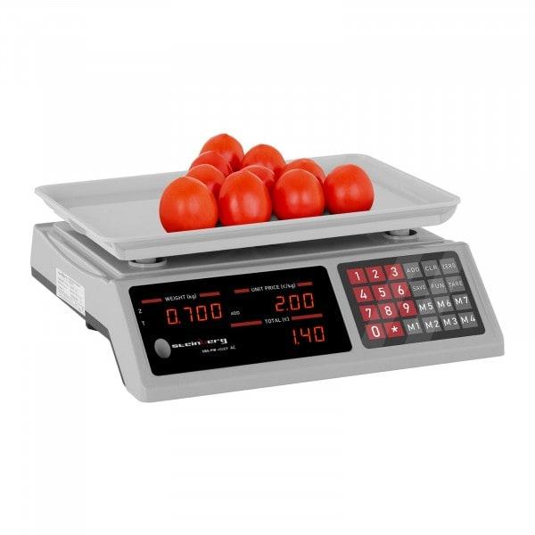 Brugt Butiksvægt - 40 kg / 2 g - 33,7 x 23,1 x 0,6 cm