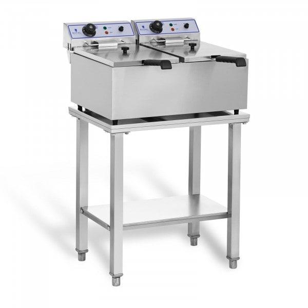 Elektro-friture-koger - 2 x 17 liter - med understel