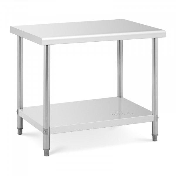 Stålbord - 100 x 70 cm - bæreevne 95 kg