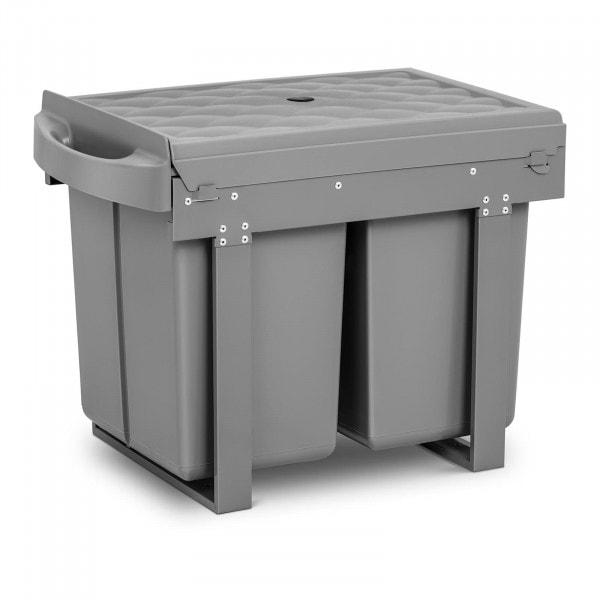 Brugt Affaldsspand til køkkenskab - 2 x 20 l