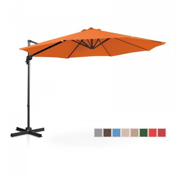 Brugt Hængeparasol - orange - rund - 300 cm i diameter - drejelig
