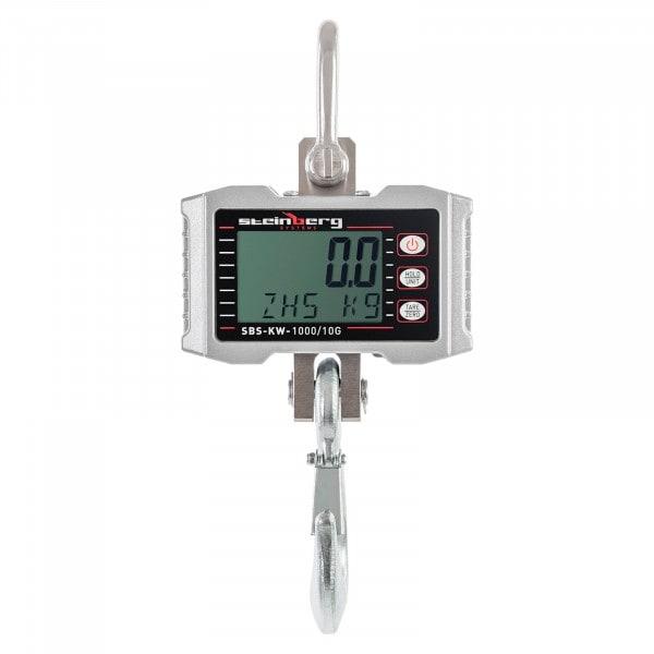 Gesamtansicht von Kranwaage - 1.000 kg / 0,5 kg - LCD - Aluminium