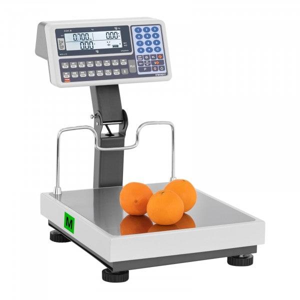 Brugt Butiksvægt - certificeret - LED på stang - 15 kg/5 g - 30 kg/10 g