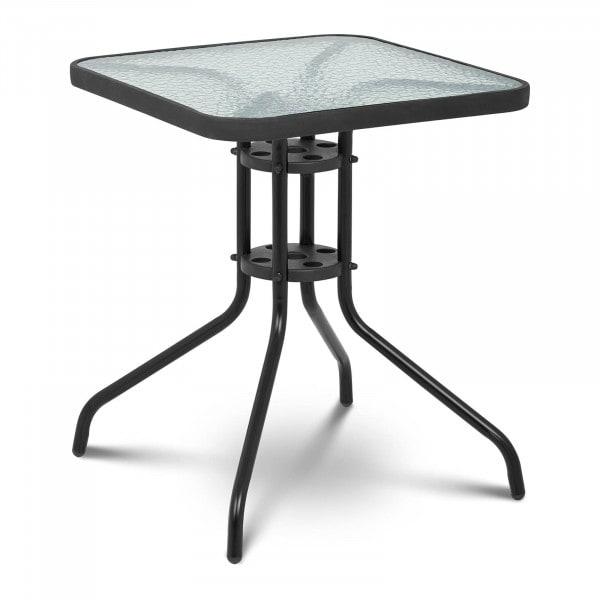 Brugt Glasbord firkantet - 60 x 60 cm - sort